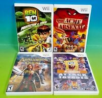 Looney Tunes: Acme Arsenal Nicktoons Ben 10 Lord of Rings - Nintendo Wii 4 Games