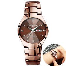 Reloj de pulsera de fecha de acero inoxidable Reloj digital analógico de cuarzo