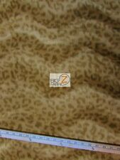 "VELBOA FAUX FAKE FUR LEOPARD ANIMAL SHORT PILE FABRIC - Light Coffee - 60"" WIDTH"