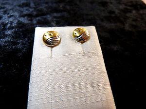 Schmuck Ohrschmuck Stecker bicolor Steine Double