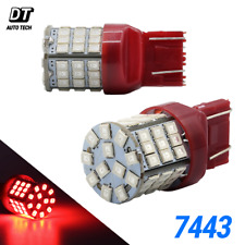Syneticusa 7443 LED Rear Tail Brake Stop Parking Light Bulbs Red Bulbs 7440 7444