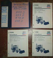 New Holland 455D 555D 575D 655D Tractor Loader Backhoe Service Manual ORIGINAL!
