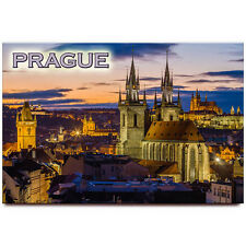 Prague fridge magnet Czech Republic travel souvenir