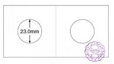 "PCCB 23mm Cardboard Staple 2""x2"" Coin Holders X 50 Pcs"