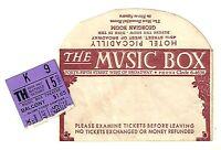 "Gypsy Rose Lee ""STAR and GARTER"" Bobby Clark / Johnny Mercer 1942 Ticket Stub"