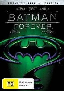 Batman Forever DVD (1995, 2 DISK SPECIAL EDITION) VAL KILMER |Region 4 Australia