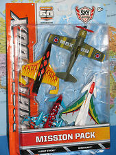 MATCHBOX MISSION PACK SKY BUSTERS FLIGHT STRIKE, AERO BLAST, PUSHER PROP 4 PACK