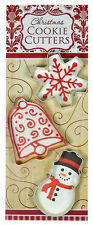 Christmas Bells Cookie Cutter Trio  SNOWFLAKE - BELL - SNOWMAN  New