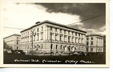 Federal Building-Old Car-Missoula-Montana-RPPC-Vintage Real Photo Postcard