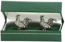 Cockrel Chicken pewter Cufflinks NEW farmers gift
