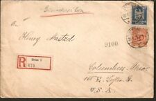 721 GERMANY TO US REGISTERED COVER 1925 ZITTAU - COLUMBUS, OH