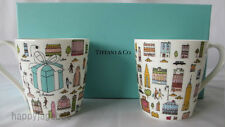 TIFFANY & CO BONE CHINA 5th Avenue Coffee Mug Cup with gift box From Japan