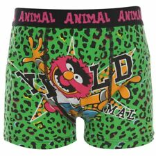 Boys NEW Green & Black  MUPPETS ANIMAL  Boxer Shorts Trunks 7 / 8 years 1 pair