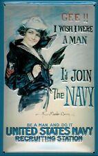 Join The US Navy Blechschild Schild Blech Metall Metal Tin Sign 20 x 30 cm