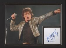 Sir Mick Jagger. Authentic autograph. Signature presentation. The Rolling Stones