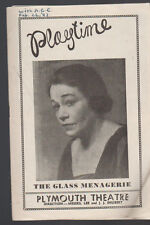 The Glass Menagerie Playtime February 26 1947 Pauline Lord Plymouth Theatre