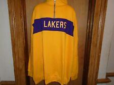 Los Angeles Lakers Majestic Hardwood Classics 1/4 Zip Pullover Shirt 3XLT 5XL