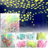 Wall Glow In The Dark Stars Stickers Kids Bedroom Nursery Room Ceiling Decor BA
