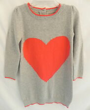 NWT GYMBOREE Valentines Day Girls Gray Red Heart Sweater Dress 3T