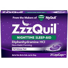 New ZzzQuil Nighttime Sleep-Aid LiquiCaps 24 Ct.