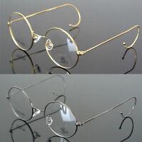 42/44/46/48/50/54 mm Gold Wire Rim Eyeglasses frames Eyewear Round Glasses Retro
