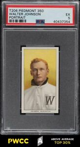 1909-11 T206 Walter Johnson PORTRAIT PSA 5 EX (PWCC-A)