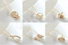 Gold Necklace Elegant Pendant Chain Birthday Christmas Gift UK
