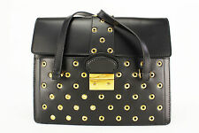 New Authentic Red Valentino Women's Bag Black Leather Satchel - NWT