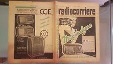RADIOCORRIERE EIAR 1940 N° 5 PUBBLICITA' RADIORICEV CGE, UNDA RADIO, ITALDADO
