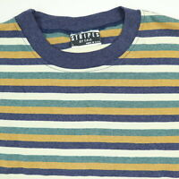 Vtg 90s NOS Surfer Striped T-Shirt Oversized LARGE Grunge Surf Skate Punk USA