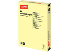 500 SHEETS / 1 REAM A4 PASTEL CANARY YELLOW COLOURED PAPER 80 GSM + FREE 24H DEL
