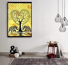 """Indian Handmade Tree Of Life Wall Hanging Elephant Tapestry Table Cloth 40X30"""""""