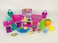 Shopkins Huge Lot Accessories Playset with 15 Figures Baskets Bags Chairs Table
