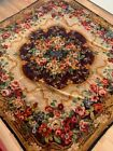 Vintage Floral Square Wall Decor 66x68 inc Handmade Anatolian Authentic Blanket