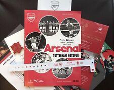 Arsenal V Tottenham Programme 02/12/18& Team Sheet & Unique Badge &more,brandnew