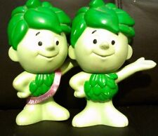 """2 Jolly Green Giant Lil Sprout action figures 7"""" Pasta Accents 1996 one ribbon"""
