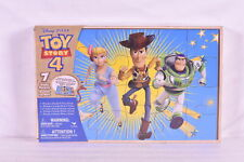 Disney Pixar Toy Story 4, 7 Wood Jigsaw Puzzles in Wooden Storage Box