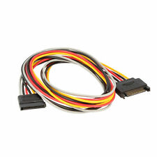SATA Strom Verlängerungskabel SATA Stecker 15 Pin auf Buchse 1m mit 5 Adern
