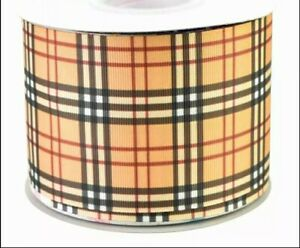 "BURBERRY CHECK Grosgrain RIBBON 1m x 75mm width (3"") birthday cake hair bows"