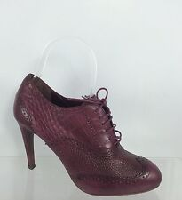 Cole Haan Womens Maroon/purple Leather Ankle Boots 6 B