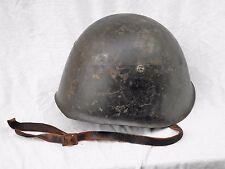 WW II ITALIAN HELMET Model 33 Liner & Chinstrap SIZE 56 Steel Helmet Italy