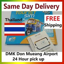 Thailand 4G 8Days Unlimited SIM Card (Bangkok DMK Don Mueang Airport 24hr Pick U