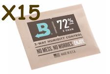 NEW Boveda 8 gram 72% Humidipack - 2 Way Humidity Control (15 x 8g)
