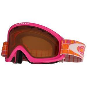 Oakley 59-109 O2 XS Bright Rose Icon Blocks w/ Persimmon Kids Girls Snow Goggles