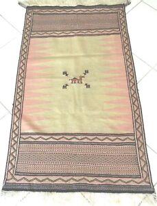 Kelim Teppich Perser Orient Nomaden Handgewebt Beige Rug Carpet Tapis Alfombra
