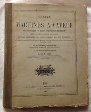 1887 M.UHLAND : TRAITÉ DE MACHINES À VAPEUR planches in et hors texte RARE