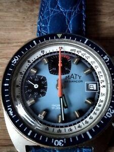 Montre chronographe vintage VALJOUX  7765 MATY