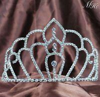 Elegant Wedding Brides Tiara Hair Combs Austrian Rhinestone Crown Prom Party