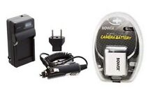 Battery + Charger for Casio EX-S10BE EXS12BK EXS12GN EX-Z80SR EX-Z85BN EX-Z85EO