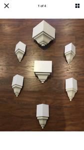 "Crown Molding Corners inside/outside/mid 7 piece 4 5/8"" Set"
